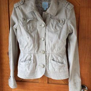 Cotton Canvas Tailored Blazer